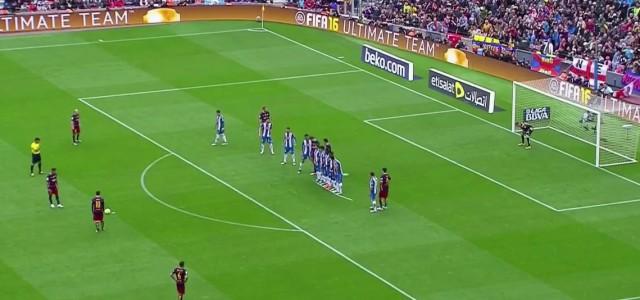 Messis Freistoßtor gegen Espanyol Barcelona