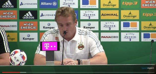 Die Pressekonferenz nach dem Spiel zwischen Rapid und Admira