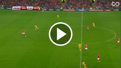 Gareth Bales Treffer zum 3:0 gegen Moldawien