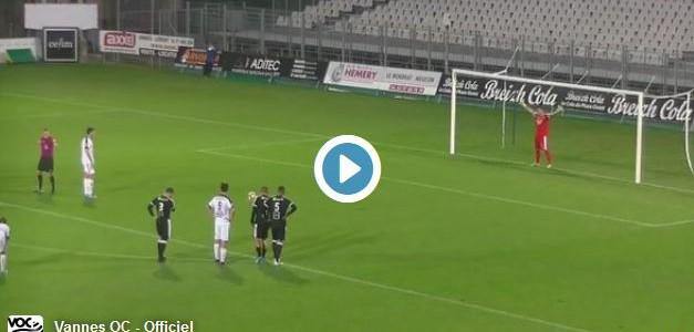 Extrem skurriler Elfmeter in der 5. französischen Liga