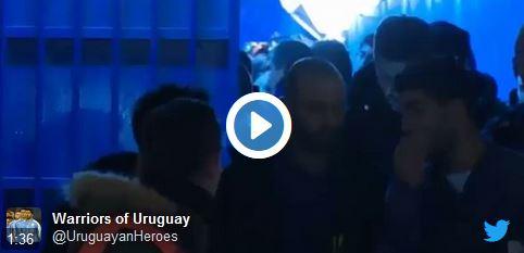 Luis Suárez trifft jungen Fan aus Uruguay