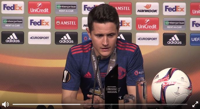 Tolles Interview von Ander Herrera nach EL-Gewinn