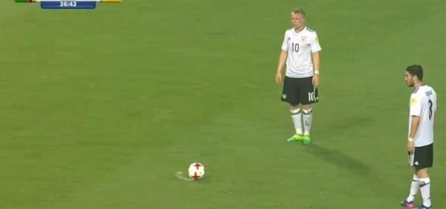 Traumfreistoß von Philipp Ochs gegen Sambia (U20-WM)