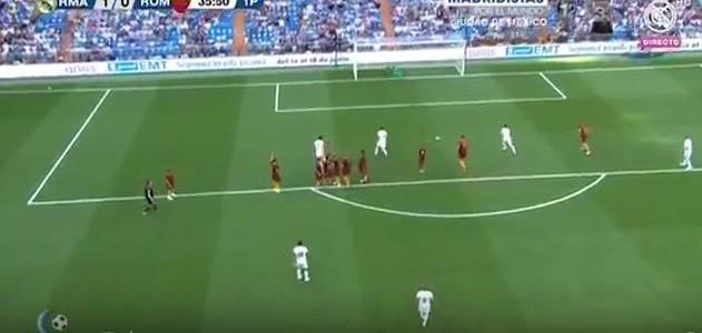 Figos Freistoßtor im Legendenspiel gegen die AS Roma