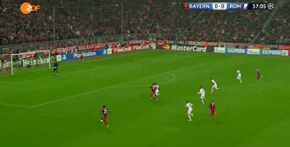 David Alabas Assist gegen die AS Roma