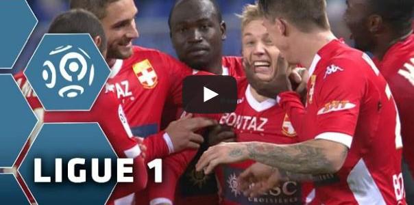 Toller Freistoß von Daniel Wass (Évian TG FC) gegen Bastia