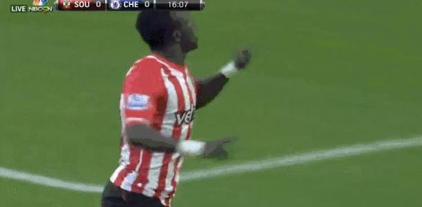 Sadio Mané (Southampton FC) trifft gegen den FC Chelsea