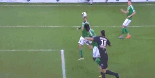 Zlatan macht´s mit der Brust (Saint-Étienne – PSG 0:1)