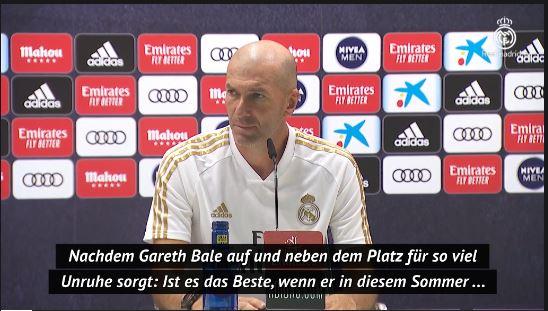Pressekonferenz: Zidane genervt von Journalisten-Frage