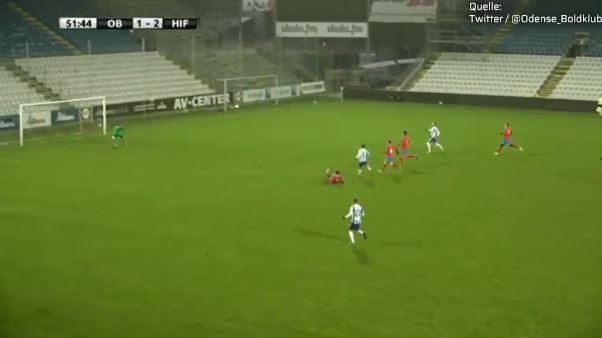 Odense-Testspiel: Eigentor aus 20 Metern ins Kreuzeck