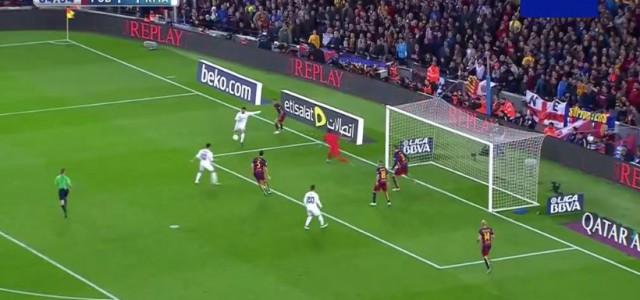 Cristiano Ronaldo mit dem Siegtor gegen den FC Barcelona (2:1)