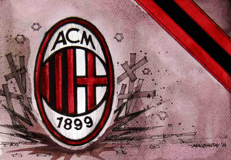 _AC Milan - Wappen mit Farben