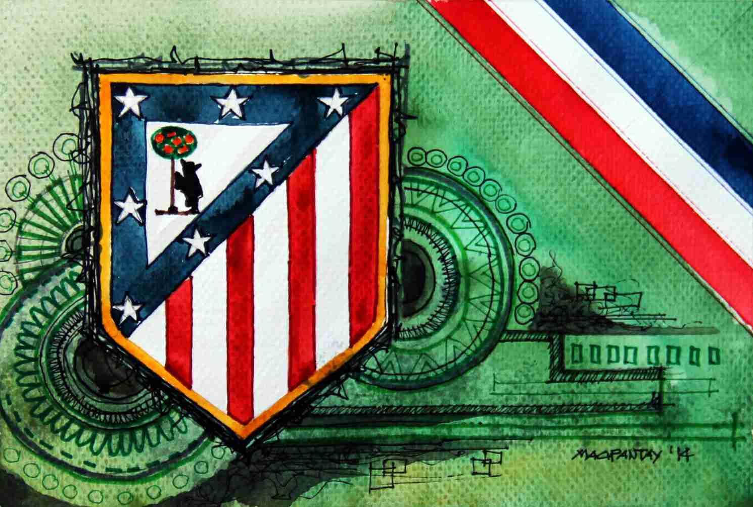 _Atletico Madrid - Wappen mit Farben