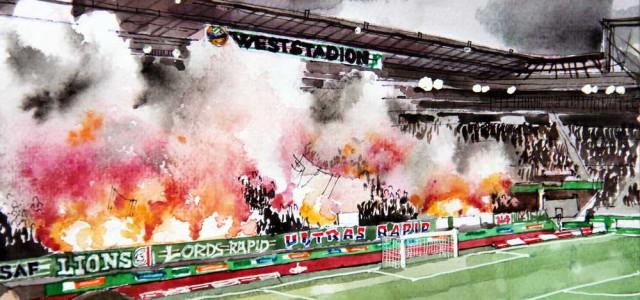 """Rapid-Fans nach 4:0-Sieg gegen Slovan: """"Das tut uns allen gut"""""""