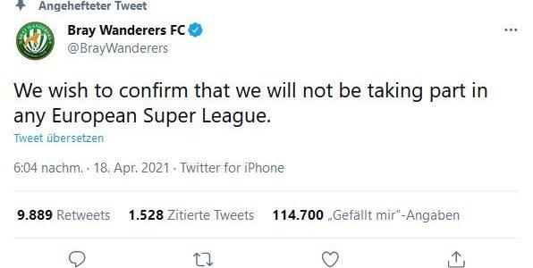 Super League: Chemie Leipzig und Bray Wanderers sind NICHT dabei