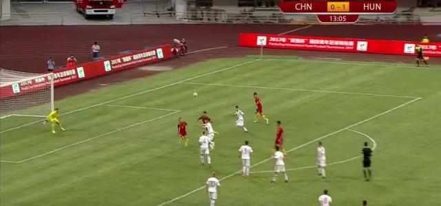 Chinesischer U19-Teamspieler erzielt akrobatischen Treffer