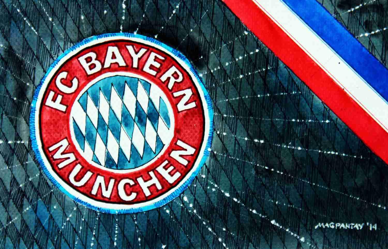 _FC Bayern München - Wappen mit Farben