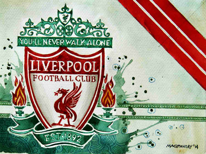 _FC Liverpool - Wappen mit Farben