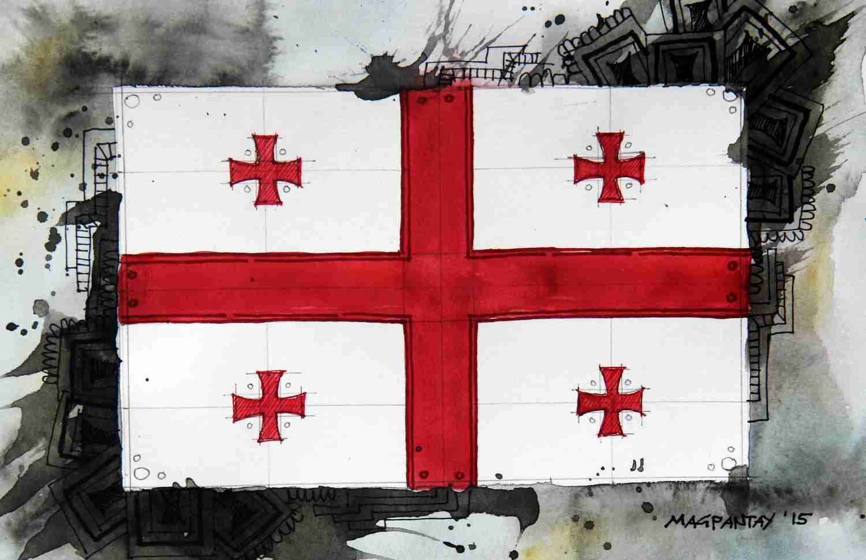 _Flagge Georgien