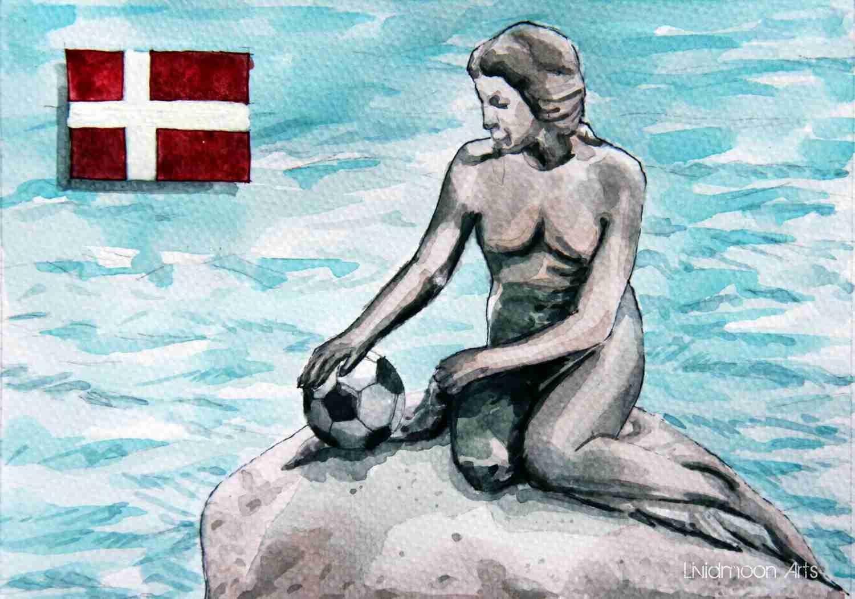 _Fußball in Dänemark Meerjungfrau Kopenhagen