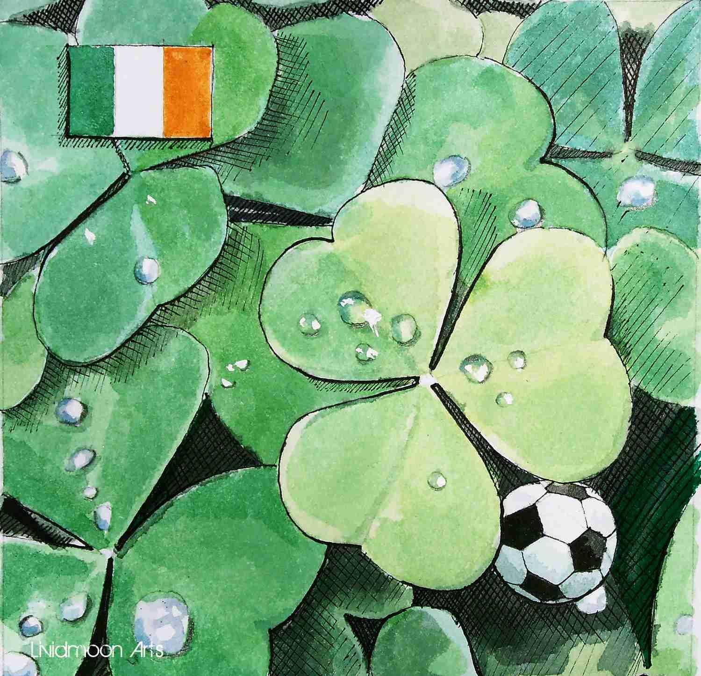 _Fußball in Irland Kleeblätter