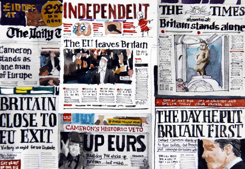 _Internationale Presse, Zeitungen