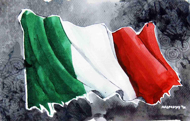 _Italien - Flagge