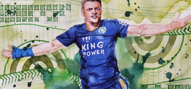 Ständig auf der Suche: Jamie Vardys perfekte Einbindung in Ranieris Spielsystem