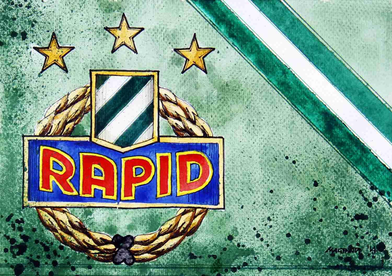 _SK Rapid Wien - Wappen mit Farben