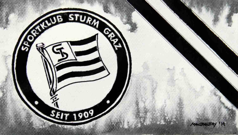 _SK Sturm Graz - Wappen mit Farben