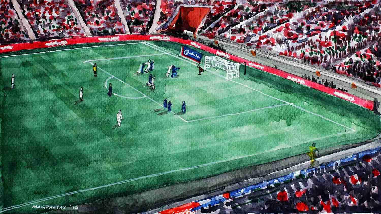 _Spielszene mit Stadionblick