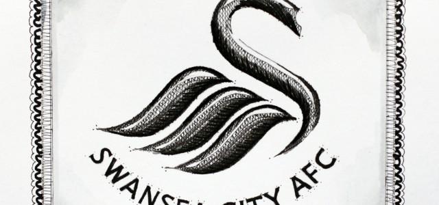 Leon Britton und Swansea City: Ein Gemälde, bei dem ein Strich in den anderen greift