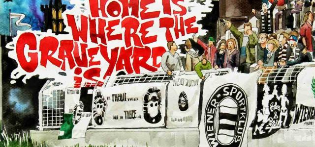 Piraten, Radfahrer und Antifaschisten – Lokalaugenschein auf der Friedhofstribüne