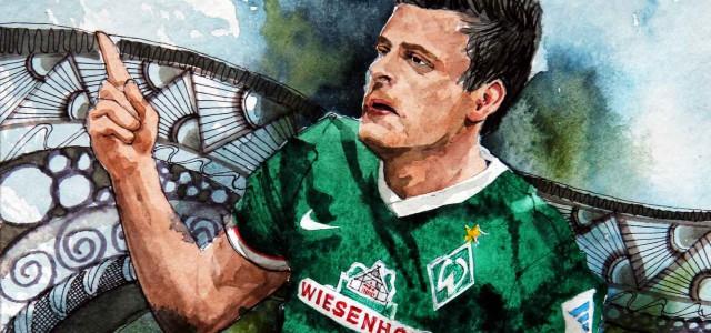 Der hart arbeitende Werder-Stürmer: Junuzovic mit guter Leistung in seiner neuen Rolle