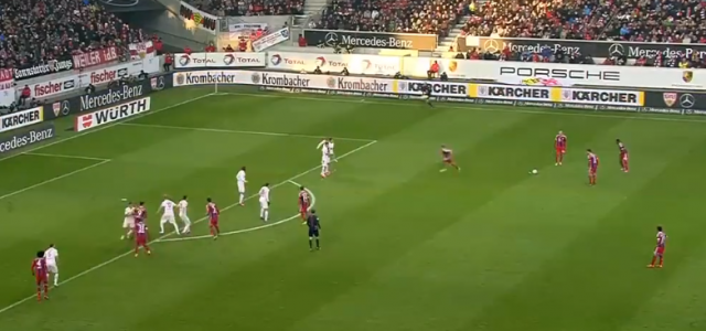 David Alabas geniales Freistoßtor gegen den VfB Stuttgart