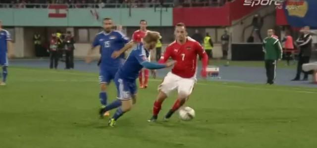 Marko Arnautovic' kraftvolles Dribbling gegen Liechtenstein