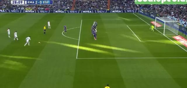 Tolles Freistoßtor von Gareth Bale (Real Madrid) gegen Espanyol Barcelona