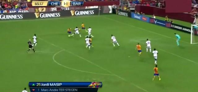 Tolle Tore beim Freundschaftsspiel zwischen Chelsea und Barcelona