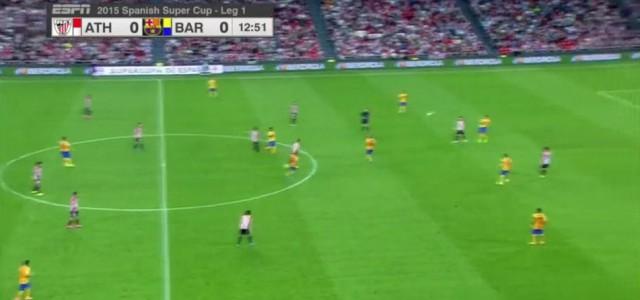 Mikel San Jose (Athletic Bilbao) trifft aus 50 Metern gegen den FC Barcelona