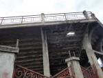 Stadioneck mit Loch im Stadio Filadelfia in Turin (by Brucki)