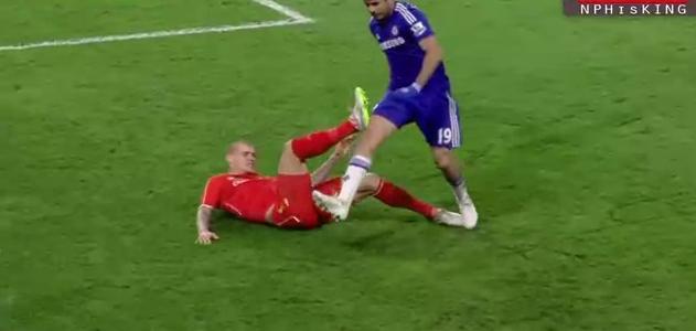 Diego Costas Härteeinlagen im League Cup gegen Liverpool
