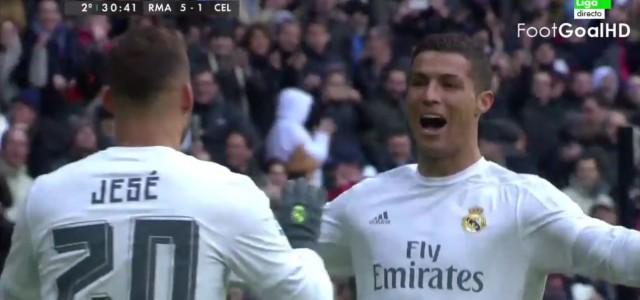 Vier Treffer beim 7:1-Sieg: Cristiano Ronaldos Galavorstellung gegen Celta de Vigo