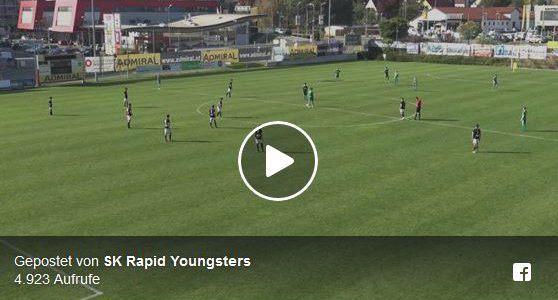 Rapid U15-Spieler erzielt genialen Treffer von der Mittelauflage weg