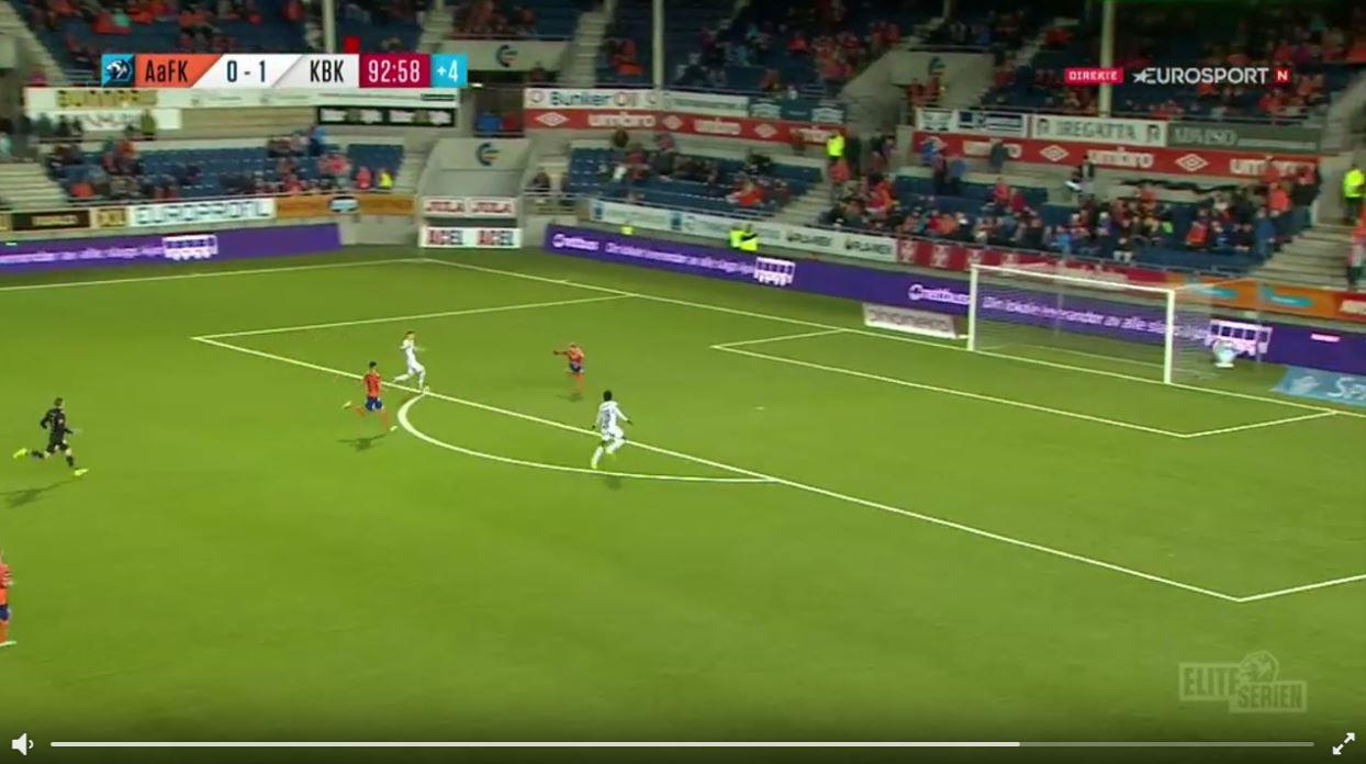 Norwegische Liga: Wenn's mit dem Empty-Net-Goal nicht klappt...