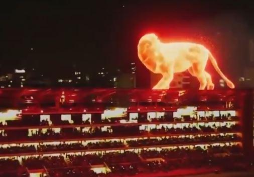 """Estudiantes de la Plata eröffnet Stadion mit einem """"Feuerlöwen"""""""