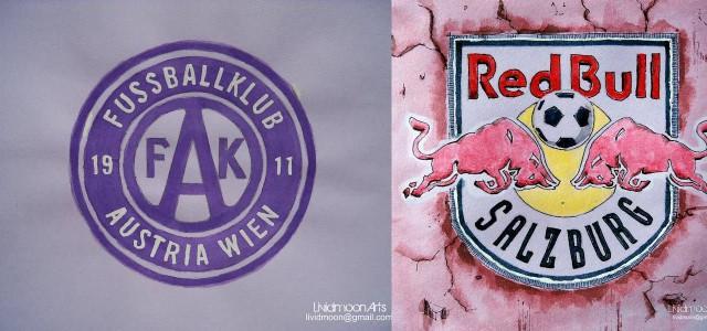 1:1 zwischen Austria Wien und Red Bull Salzburg: Wie ähnliche taktische Schemata praktisch voneinander abweichen können!