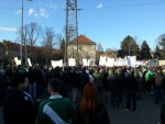 Fanprotest der Rapid-Fans im April 2013