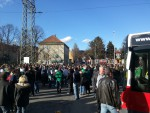 Fanprotest der Rapid-Fans im April 2013