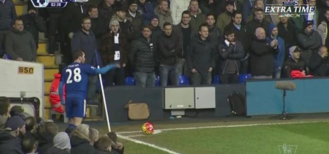 Leicester siegt bei Tottenham: Robert Huth versenkt Fuchs-Eckball per Kopf