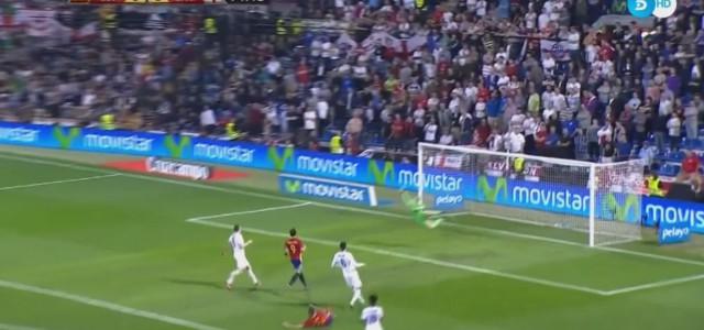 Sensationeller Treffer von Spaniens Mario Gaspar gegen England